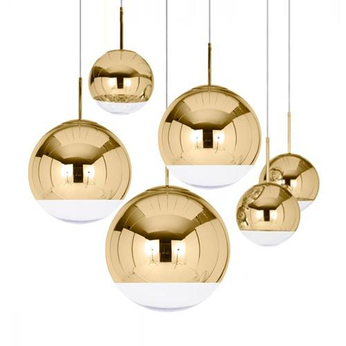 Polished brass pendant light