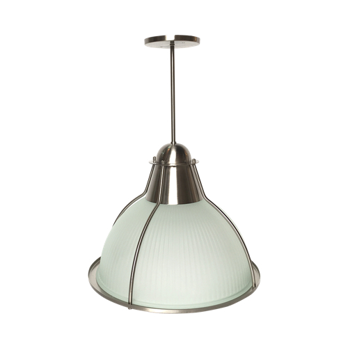 Frosted glass pendant light