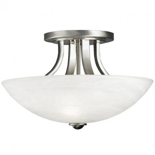 brushed nickel semi flush mount