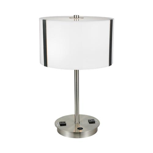 table lamp with 2 power outlets
